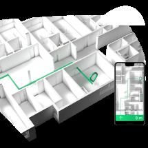 Indoor Navigation für Einkaufszentren und Supermärkte